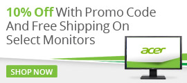 Acer Monitors 10% Off LP
