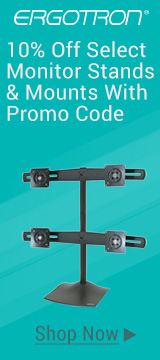 10% off select monitor stands & mounts with promo code