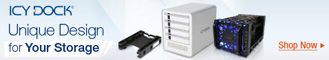 ICY DOCK Hard Drive Brackets, Mobile Racks, Hard Drive Docking Statins