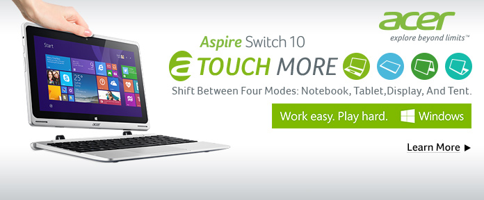 Aspire Switch 10 Touch More