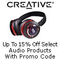 Up to 15% off select Audio products with promo code