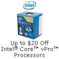Intel vPro CPU Refresh $20 Off