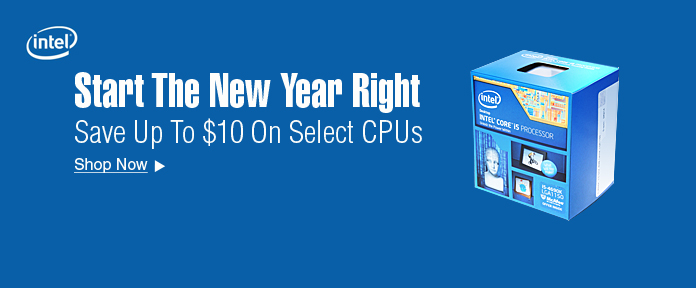 save up to $10 on select CPUs