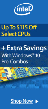 Intel CPUs and Windows 10 Pro Combos Up To $135 Off