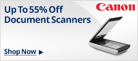 Canon Mobile & Desktop Document Scanners 55% Off