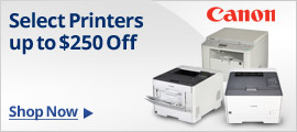 Canon Select Printers Up to $250 off