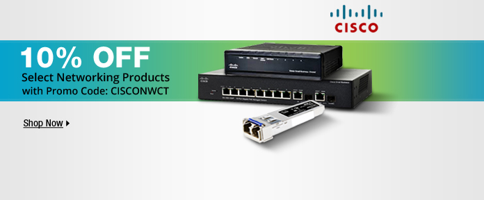 10% off select networking products with promo code