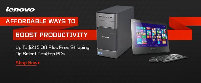 Lenovo Desktop PCs Up To $215 Off