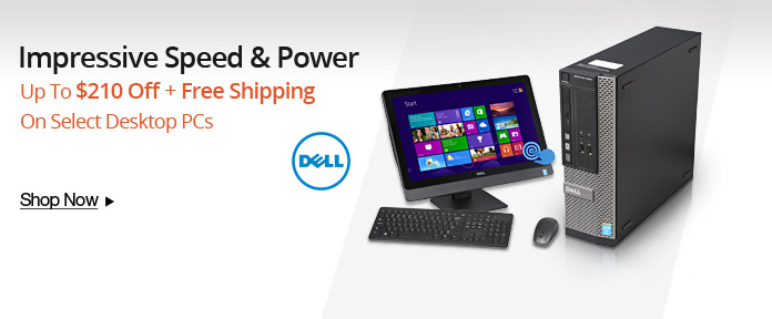Up to $210 + free shipping on select desktop PCs
