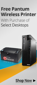 Free Laser Printer with Select Desktop PC Purchase