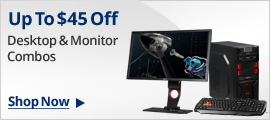 Up to $45 off desktop & monitor combos
