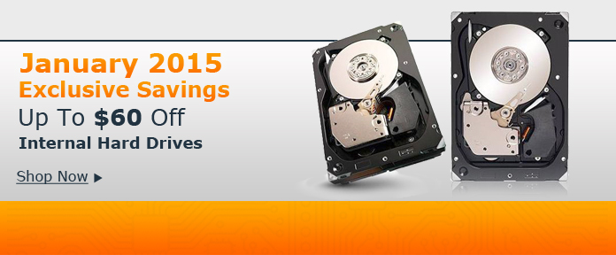 Up to $60 off Internal Hard Drives
