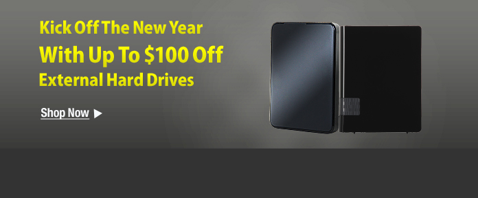 $100 Off External HD