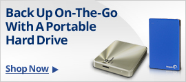 Back up On-The-Go with a portable hard drive