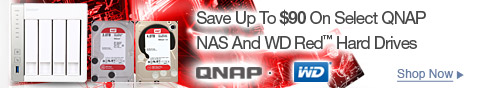 Save up to $90 on select QNAP NAS and WD red haed drive