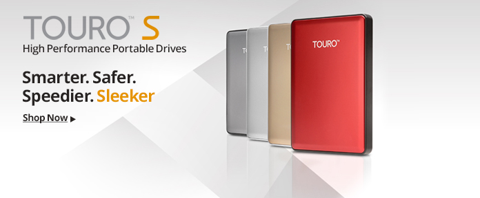 Touro™ S High Performance Portable Drives
