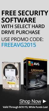 Free security software with select hard drive purchase, use promo code