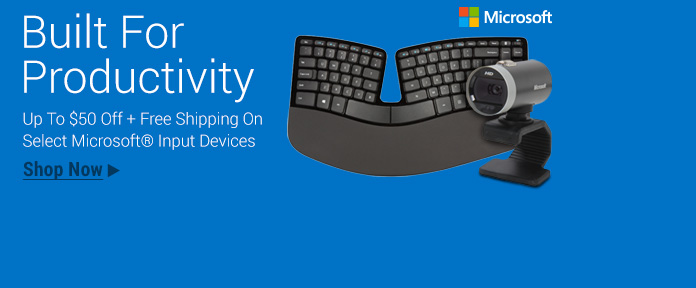 Microsoft Input/ Output up to $50 Off