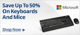 Save up tp 50% on keyboards and mice