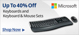 Up to 40% Off Keyboards and Keyboard & Mounse Sets