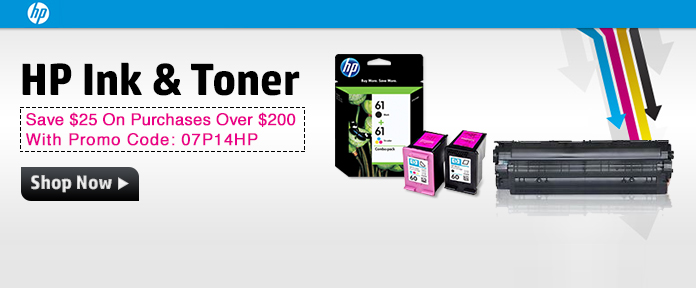 Save $25 On Ink & Toner Purchases Over $200