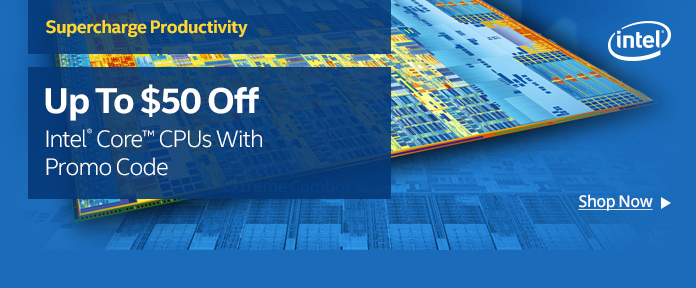 Up to $50 off CPUs w/ promo code