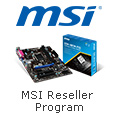 MSI Reseller Program - Cash Back For Purchases