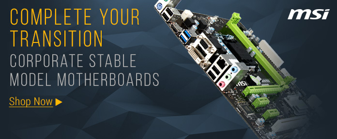 MSI Corporate Stable Model Motherboards