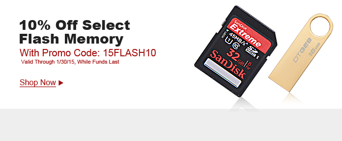10% off select flash memory w/ promo code