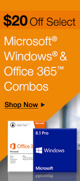 $20 off select Microsoft Windows & Office 365 Combos