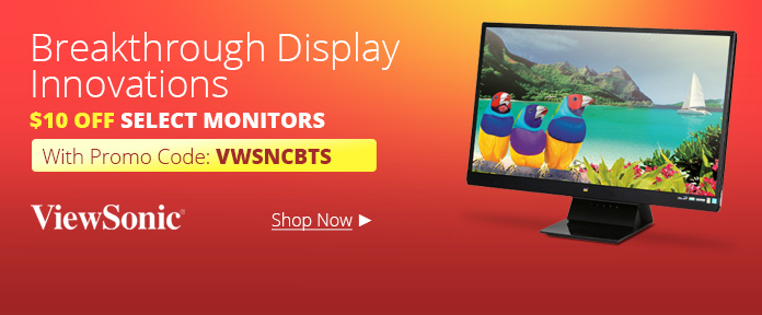 Viewsonic Monitors $10 Off