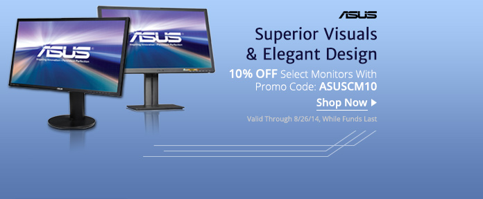 10% off select Monitors with promo code