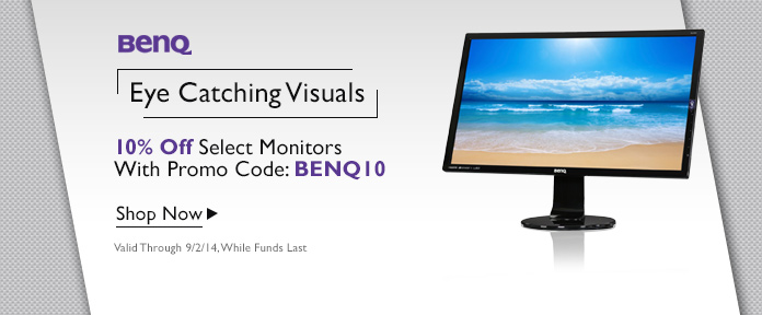 10% off select Monitors with promo code: BENQ10 shop now
