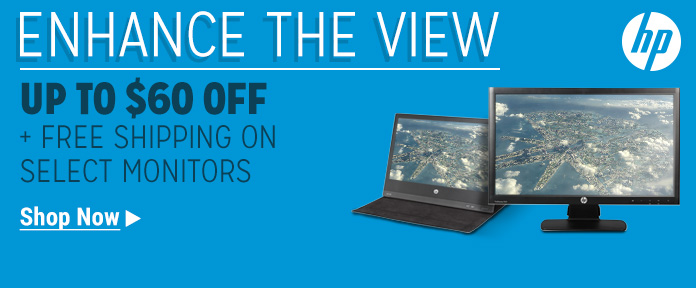 Up to $60 off + free shipping on select monitors