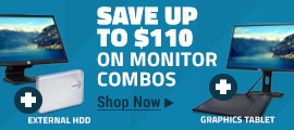 Save up to $110 on Monitor Combos