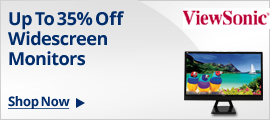 Up to 35% off widescreen monitors