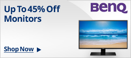 UP TO 45% OFF MONITORS