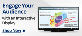 Engage your audience with an interactive display
