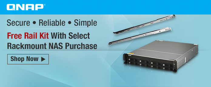 Free Rail Kit With Select Rackmount NAS Purchase