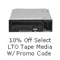 10% off select LTO Tape Media w/ promo code