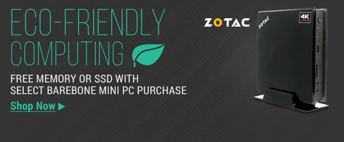 ZOTAC Free SSD or Memory