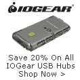 Save 20% on all IOGEAR USB hubs shop now