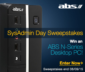 SysAdmin Day Sweepstakes