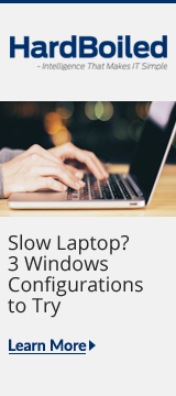 HardBoiled Blog: Quick Fixes for a Slow Laptop