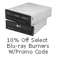 10% off Select Blue-ray Burners