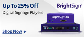 Up to 25% off Digital Signage Players