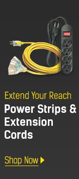 Power strips & extension cords