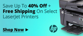 Save up to 40% off + free shipping on select LaserJet Printer