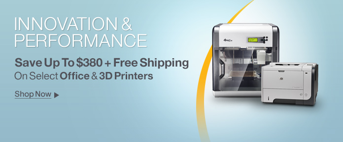 Innovation & Performance Save Up to $380 + Free Shipping On Select Office & 3D Printers