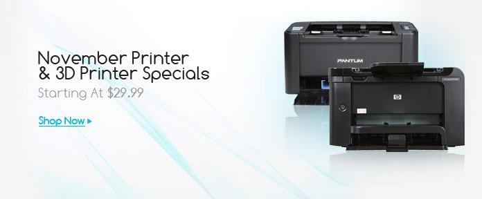 November Printer & 3D Printer Specials